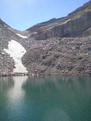 "That permanent snowfield is fondly referred to as the ""Timpanogos Glacier"""